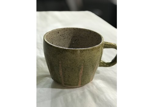 High Noon Pottery High Noon Pottery Olive Line Mug