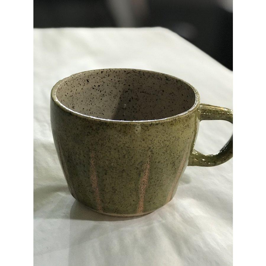 High Noon Pottery Olive Line Mug