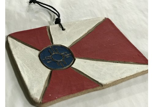 High Noon Pottery ICT Flag Ceramic Ornament