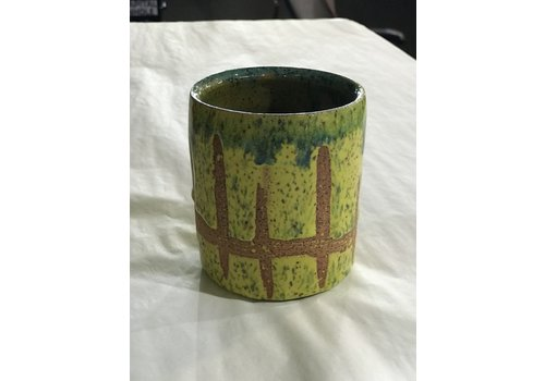 High Noon Pottery Neon Green Juice Cup