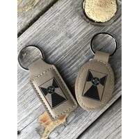 Leather Flag Keychains