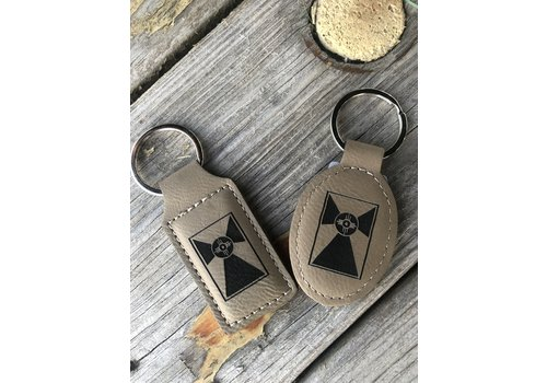 Gary Kline Leather Flag Keychains