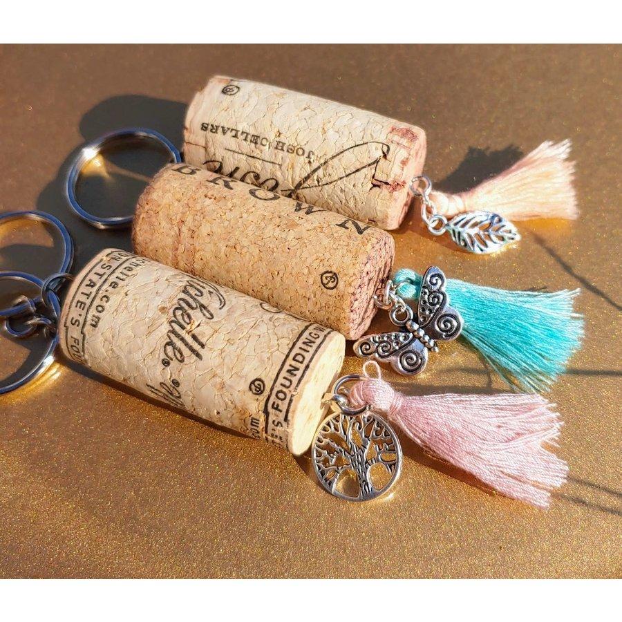 Assorted Wine Cork Keychains