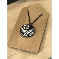 Assorted Round Black Necklace