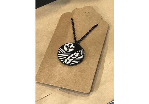 ICTMakers Assorted Round Black Necklace