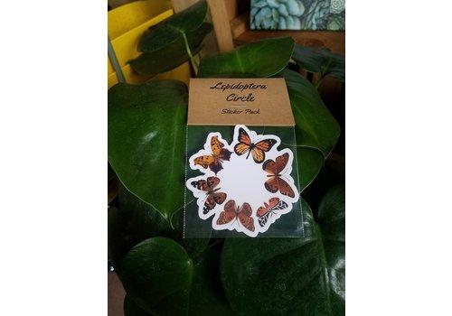 Wolff Studios Theresa Wolff Sticker Pack Lepidoptera Circle