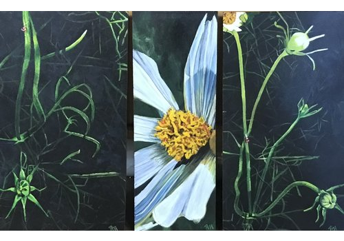 Amy Herrmann Art Daisy Triptych Amy Herrmann