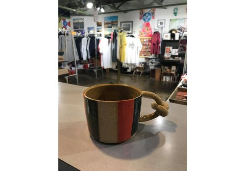 High Noon Pottery Colorblock Knot Mug 1