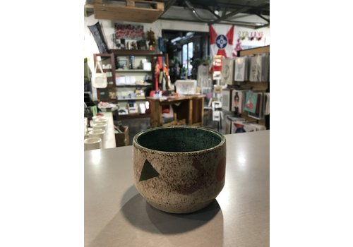 High Noon Pottery Shapes and Things Cup with Turquoise Interior
