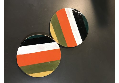 High Noon Pottery Colorblock Coasters