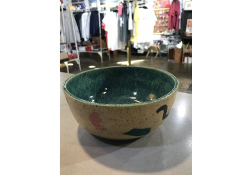 High Noon Pottery Colorblock Bowl 2 Turquiose Interior