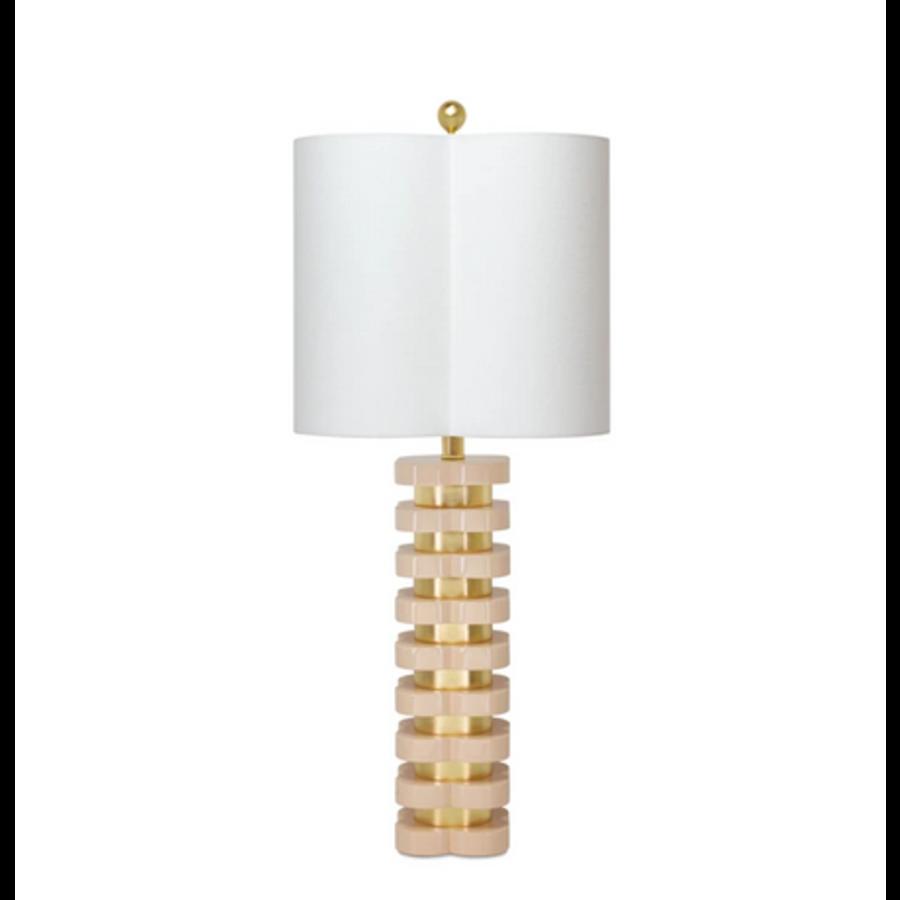 Quartrefoil Lamp (Blush Pink)