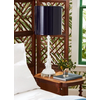 Parrot and Palm White Lamp w/ Lacquered Onyx Shade