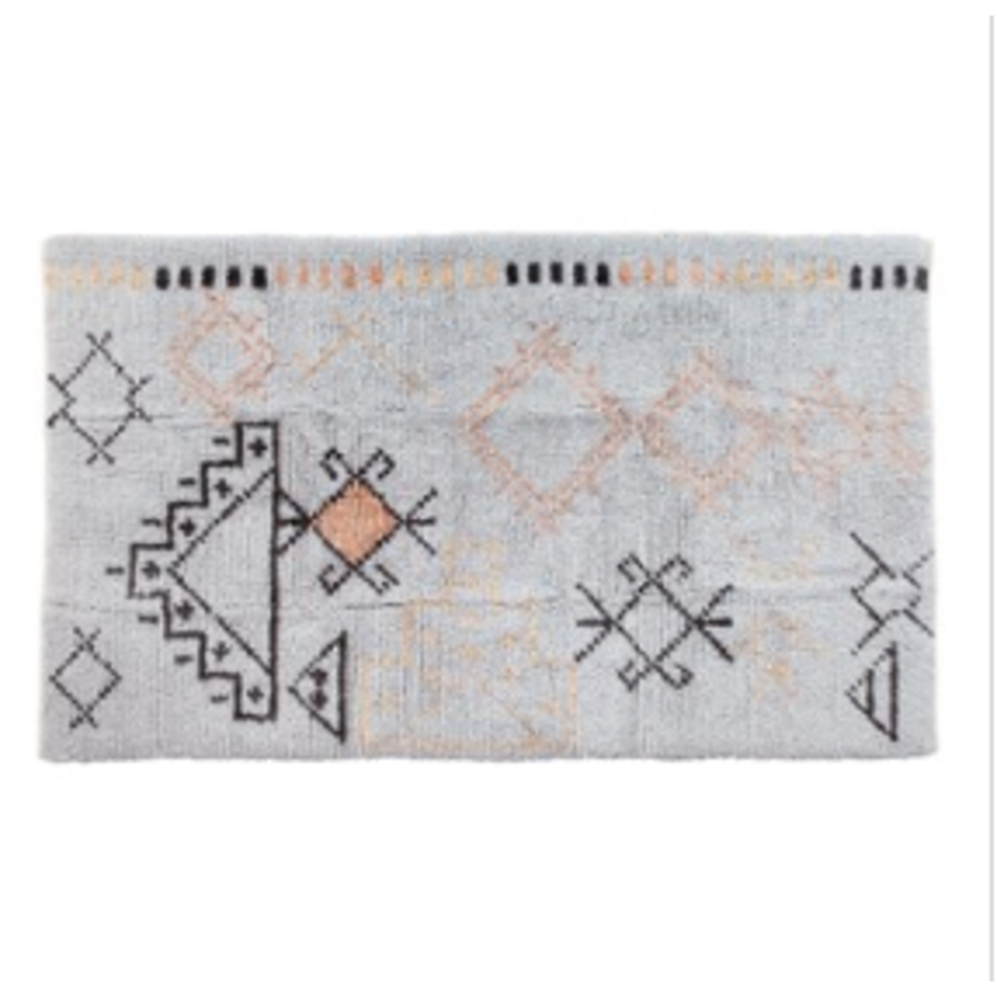 Hand-Woven Blend Tufted Rug w/ Abstract Design, Multi Color