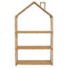 Creative Co-Op Woven Bankuan and Metal Foldable House Shelf