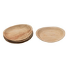 """Creative Co-Op 9"""" Round Dried Areca Palm Plates S/6"""