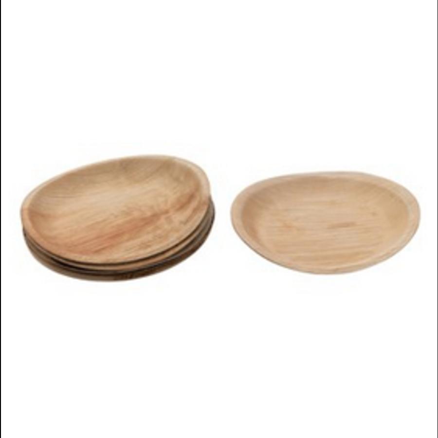 "9"" Round Dried Areca Palm Plates S/6"