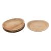 """6.5x10"""" Dried Areca Palm Plates S/6"""