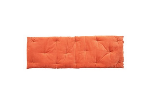 Creative Co-Op Velvet French Tufted Cushion, Coral