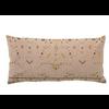 Bloomingville Cotton Embroidered Lumbar Pillow