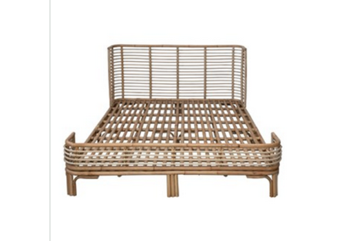 The Workroom Handmade Rattan Queen Size Bed Frame