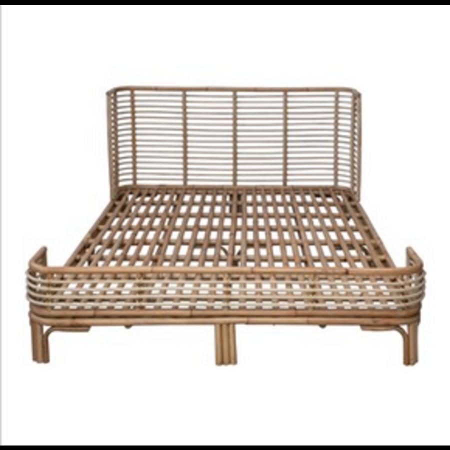 Handmade Rattan Queen Size Bed Frame