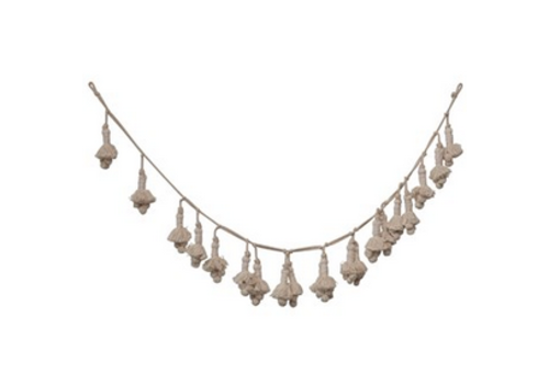 "Creative Co-Op 72"" Hand Woven Cotton Tassel Garland"