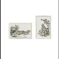 Stoneware Plate w/ Jungle Cats