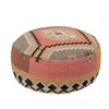 The Workroom Hand woven Cotton Kilim Pouf