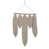 Bloomingville Wood and Cotton Macrame Leaves Wall Hanging