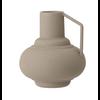 Sage Colored Textured Metal Vase with Handle
