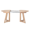Oak Wood Table with Two Leaves