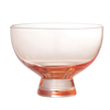 Glass Footed Bowl, Blush Color