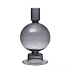 Bloomingville Smoky, Glass Taper Holder/Vase