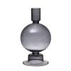 Smoky, Glass Taper Holder/Vase