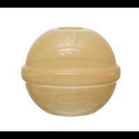 Milky Yellow Glass Ball Vase