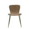 Bloomingville Boucle Fabric Upholstered Chair with Gold Zipper