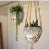 Hanging Galvanized Planter with Rope