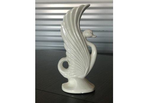 The Workroom Vintage White Swan Vase