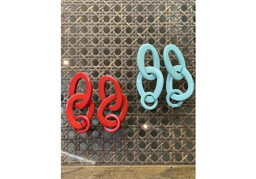 The Workroom Fashion Find Red Link Earrings