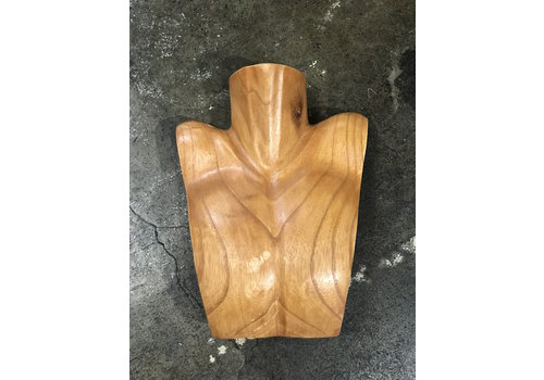 The Workroom Vintage Wooden Male Bust