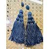 The Workroom Fashion Find Navy Tassle Earrings