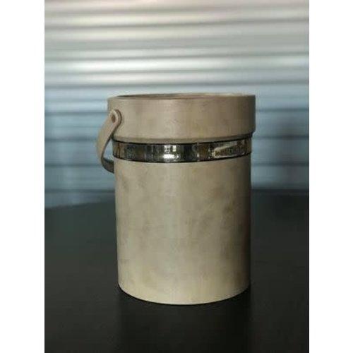 The Workroom Vintage Shelton Ware Brass/Beige Container