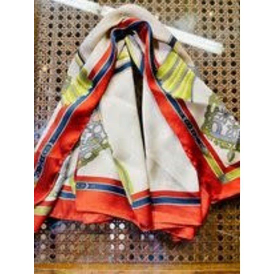 Patterned Designer Silk Scarf