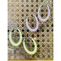 Fashion Find Yellow Silver Hoop Earrings