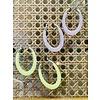 The Workroom Fashion Find Pink Silver Hoop Earrings