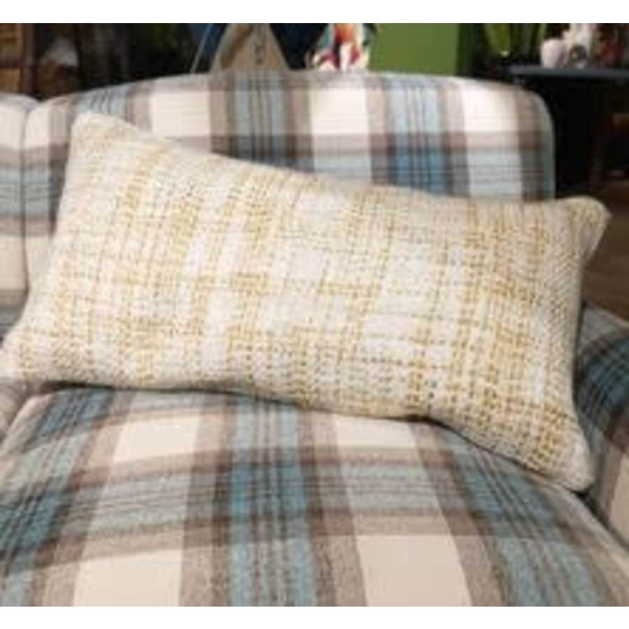 """Yellow/ Ivory Woven Pillow 14x26"""""""