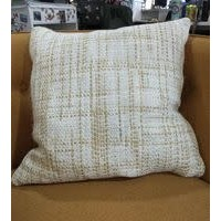 """Yellow/ Ivory Woven Pillow 22x22"""""""
