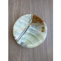 Onyx Stone Soap Dish , Round