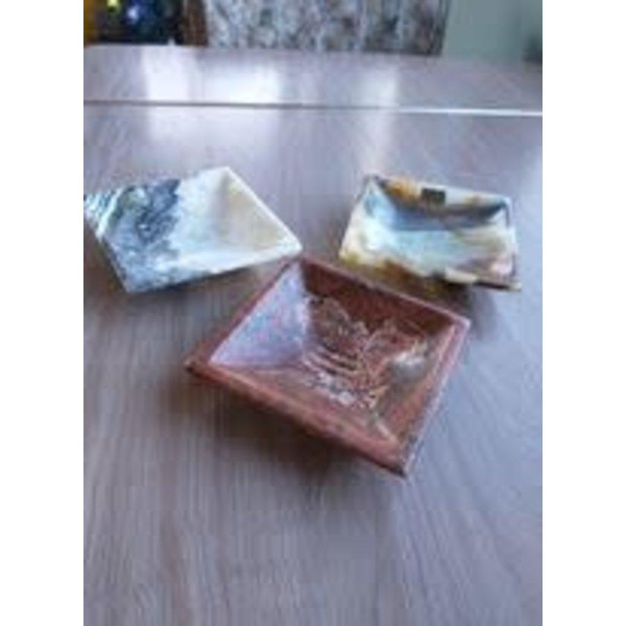 Onyx Stone Soap Dish , Square